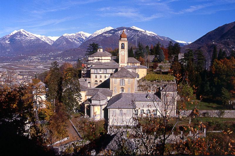 Il bellissimo panorama della Casa di opitalità Sacro monte Calvario di Domodossola
