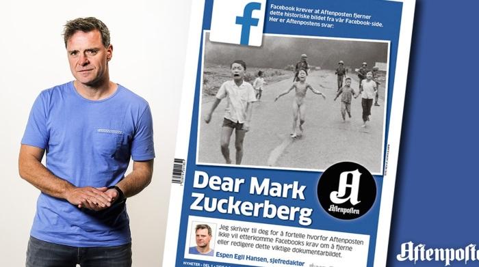 Il direttore di un giornale norvegese scrive al capo di Facebook: Mark, abusi del tuo potere.