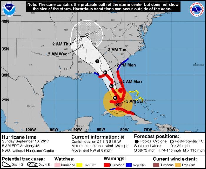 Irma sta per raggiungere la Florida. Potrebbe essere un disastro perché...