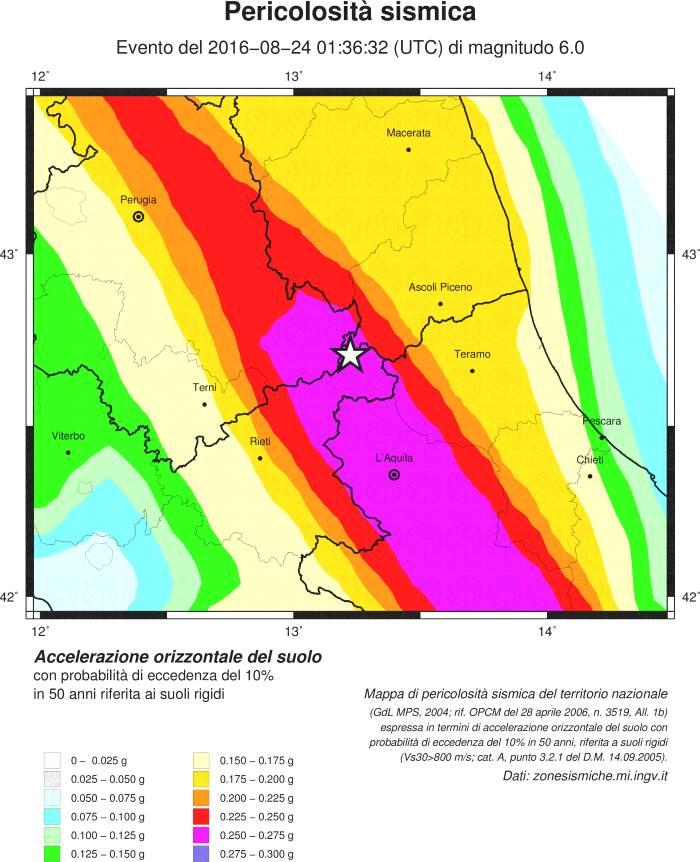 Terremoto ad Amatrice, 6.0 sulla scala Richter. Localizzazione e Mappe