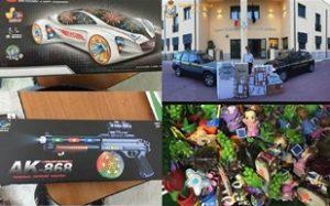 Leonforte e Regalbuto: GdF sequestra oltre duemila giocattoli e prodotti contraffatti