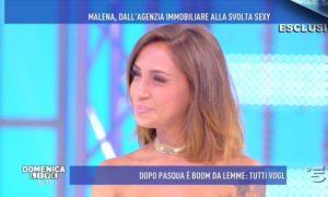 Domenica Live, la porno star Malena in lacrime si racconta in tv