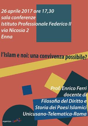 """Enna. Associazione Zanni, conferenza su: """"L'Islam e noi: una convivenza possibile?""""."""