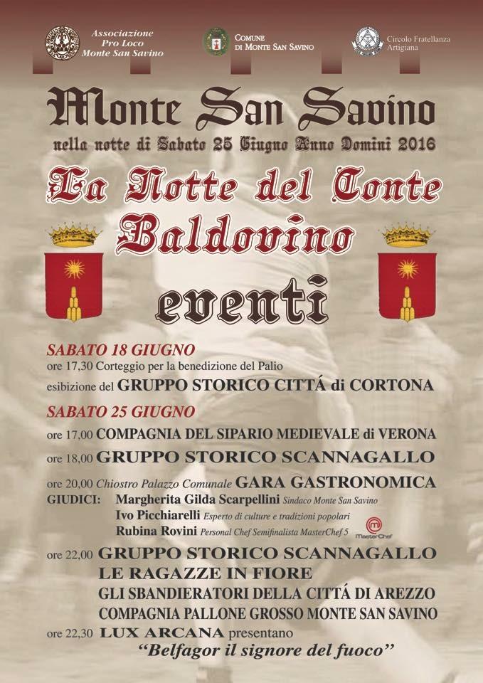 Gara culinaria di ricette storiche a Monte San Savino (AR), 25/06/2015