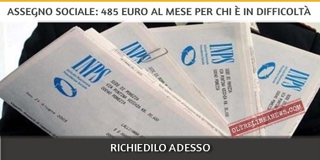 Assegno Sociale INPS, 485 euro al mese per chi è in difficoltà. Come richiederlo