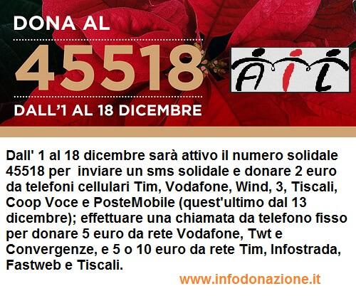 AIL: invia un SMS o acquista una Stella di Natale per aiutare l'associazione