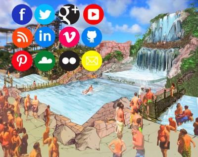 Uno scivolo acquatico genera automaticamente contenuti da condividere sui social network: succede ad Aqualandia!