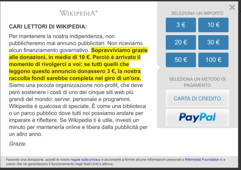 Ecco come wikipedia si mangia i soldi delle donazioni