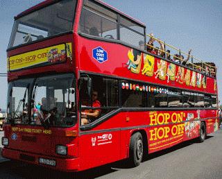 Autobus Hop-On Hop-Off (Sali e Scendi) per risparmiare visitando le Città