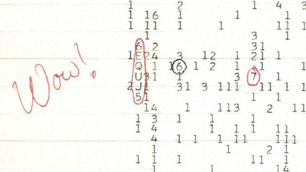 15 agosto 1977: Ehman rileva un segnale radio dall'esterno del Sistema Solare