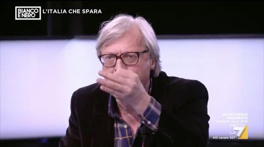 Sgarbi sclera a Bianco e Nero: volano insulti e minacce! VIDEO
