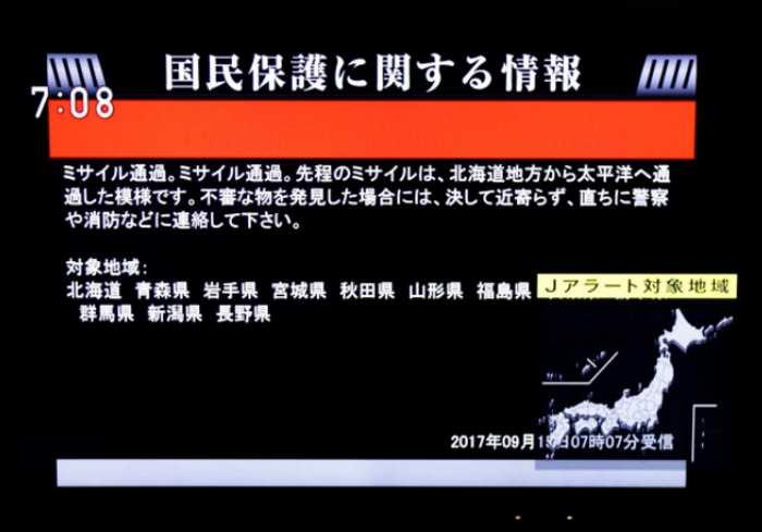 La Corea del Nord lancia un secondo missile che sorvola il Giappone