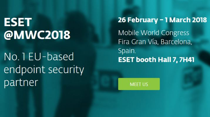 ESET al Mobile World Congress 2018
