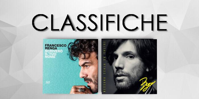 CLASSIFICHE: FRANCESCO RENGA subito primo negli album e BUGO conquista la vetta dei vinili. Buon...