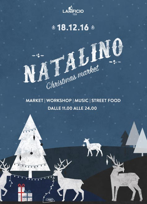 Non c'è Natale senza Natalino, il Christmas Market dell'artigianato di qualità al Lanificio di Roma domenica 18 dicembre