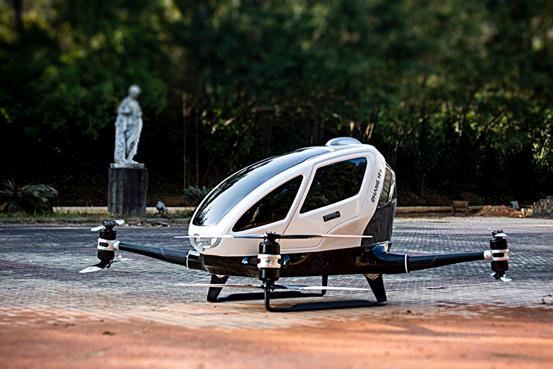 Autovettura volante Ehang 184: questa estate sui cieli di dubai