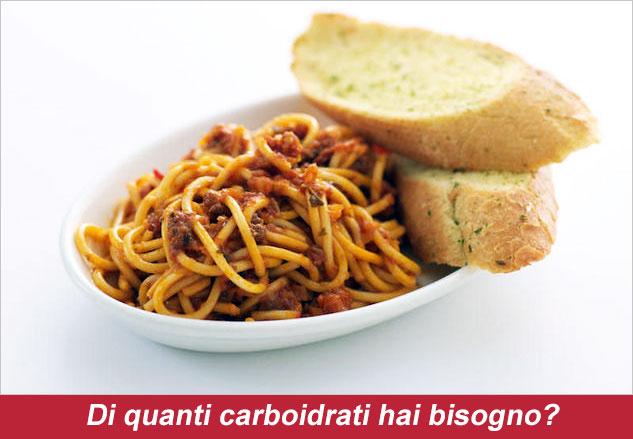 Sai di quanti carboidrati hai bisogno al giorno per dimagrire?