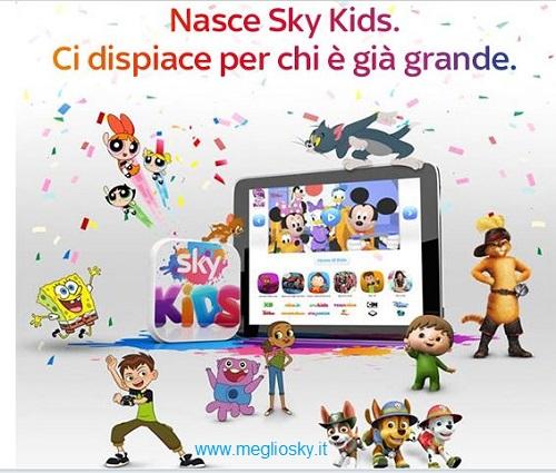 Come funziona la nuova app Sky Kids