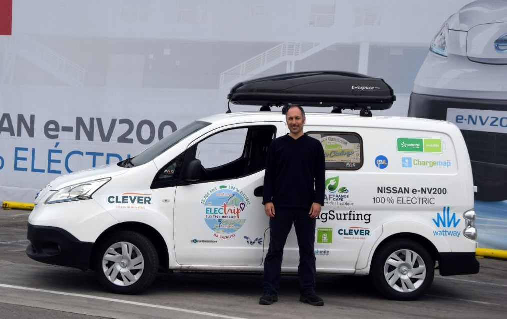 Al via l'electric tour a bordo di una Nissan e-NV200