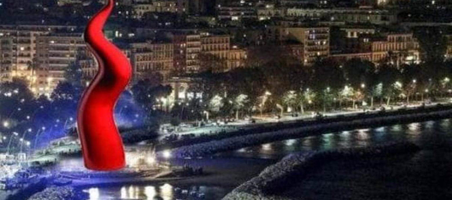 Cuorno natalizio sul lungomare di Napoli?