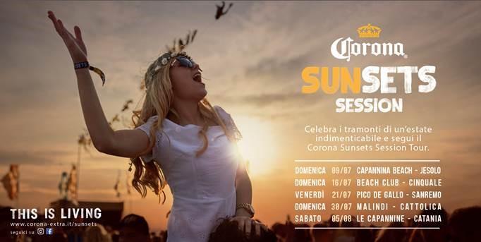 Corona Sunsets Tour 2017: vivere il tramonto non è mai stato così unico