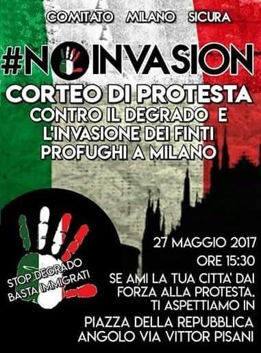Il Movimento Sociale al corteo di Milano contro il degrado