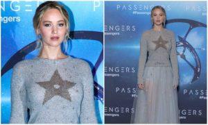 Jennifer Lawrence: look da (semi) Fata Turchina alla prima di Passengers