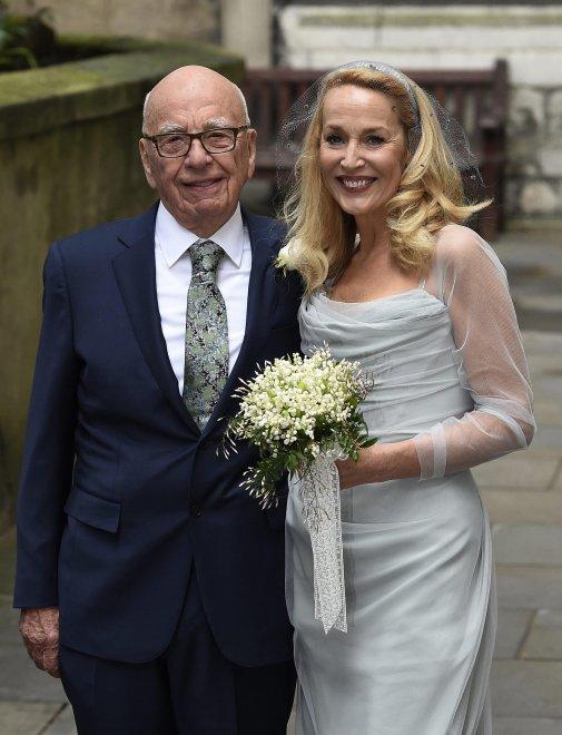 Il signor Sky Rupert Murdoch e Jarry Hall, oggi sposi!