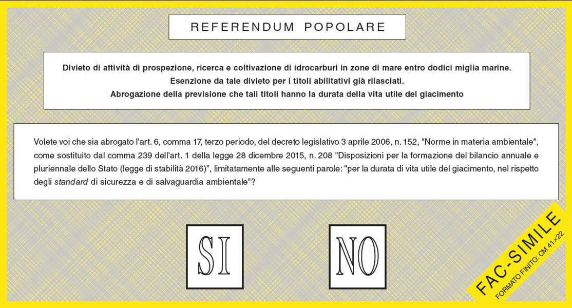 Referendum abrogativo del 17 Aprile 2016: le informazioni utili