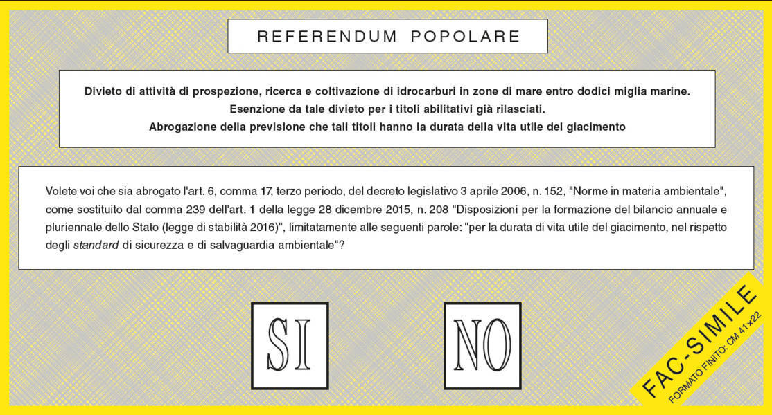 Referendum del 17 Aprile 2016. I risultati a Castel Bolognese