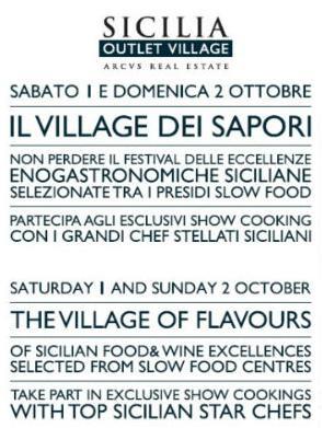 """Sicilia Outlet Village: arriva il """"Village dei sapori"""", festival eccellenze enogastronomiche..."""