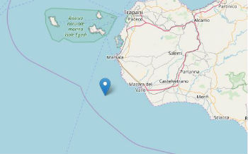 Terremoto ML 3.0 il 15-10-2017 ore 16:16 Costa Siciliana sud occidentale (Trapani)