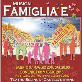 """Nel weekend, al Teatro Selinus, il musical """"Famiglia è"""""""