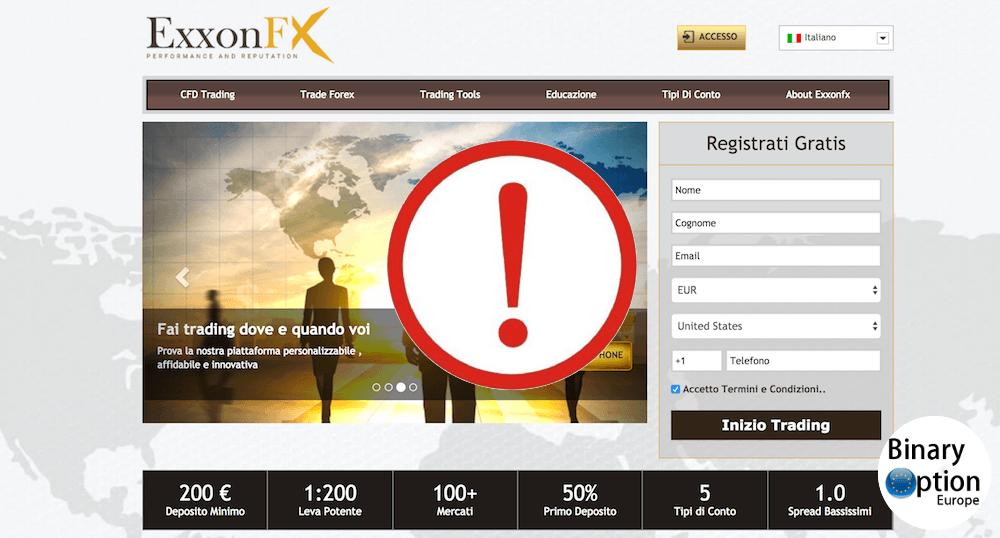 ExxonFX truffa o affidabile? Leggi cosa dice la CONSOB e FCA di questo broker forex truffa qui