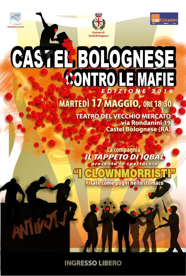 Castel Bolognese contro le mafie, martedì 18 maggio alle 18.30 presso il teatrino Vecchio Mercato