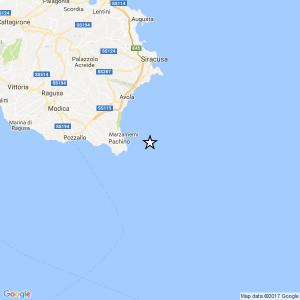 Sicilia, terremoto Ml 2.4 il 21-03-2017 ore 11:49 Costa Siracusana