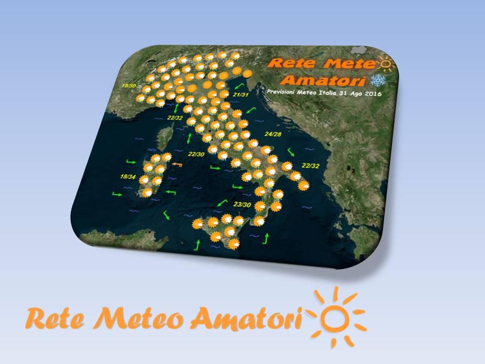 Previsioni Meteo Italia per il 2 Ottobre 2016
