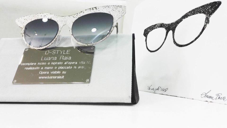 Nuova sinergia per l'occhiale D-Style di Domenico Auriemma con l'artista Luana Raia