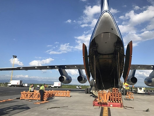 Volga-Dnepr airlifts heavy machinery equipment from Mexico to India | Air Cargo)