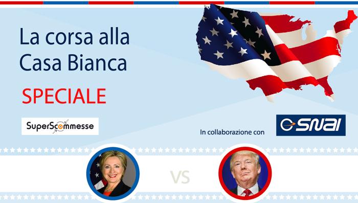 Quante probabilità hanno avuto Clinton e Trump di vincere le elezioni USA durante la campagna? (infografica)