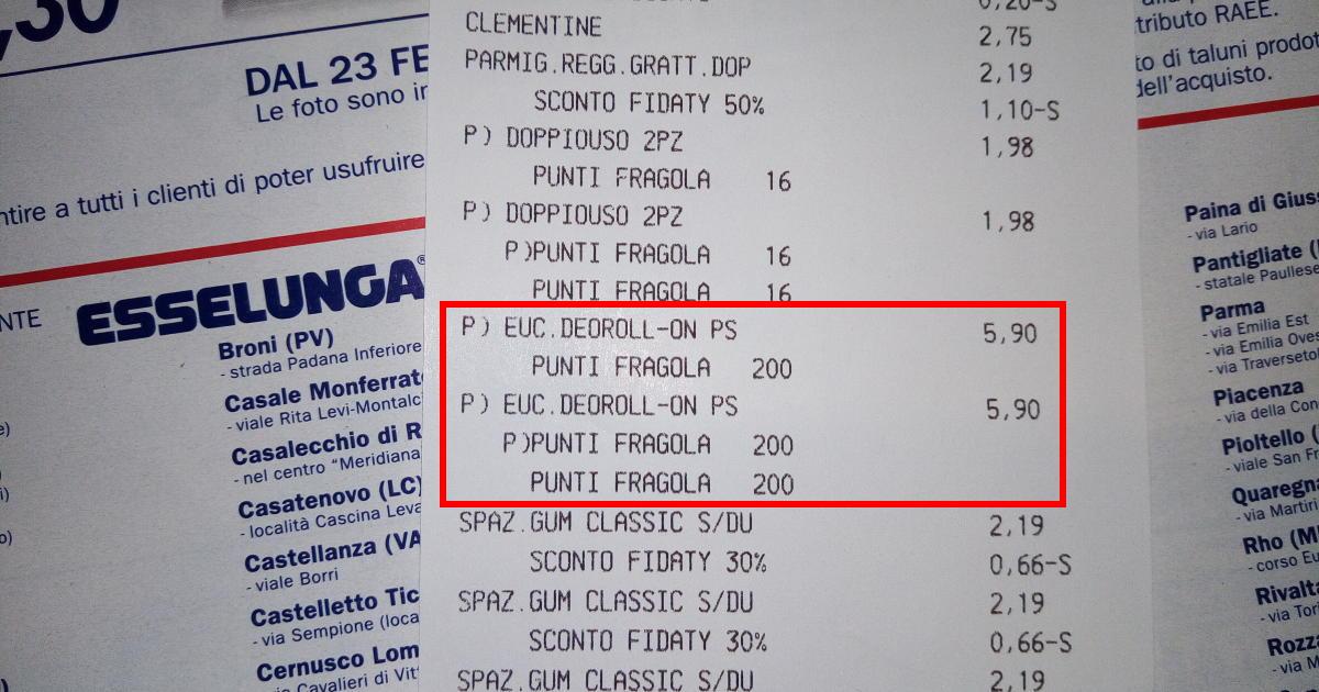 In Esselunga, con 12 euro, 600 punti Fragola, 12 codici Wow e 6 euro di sconto cash back virtuali