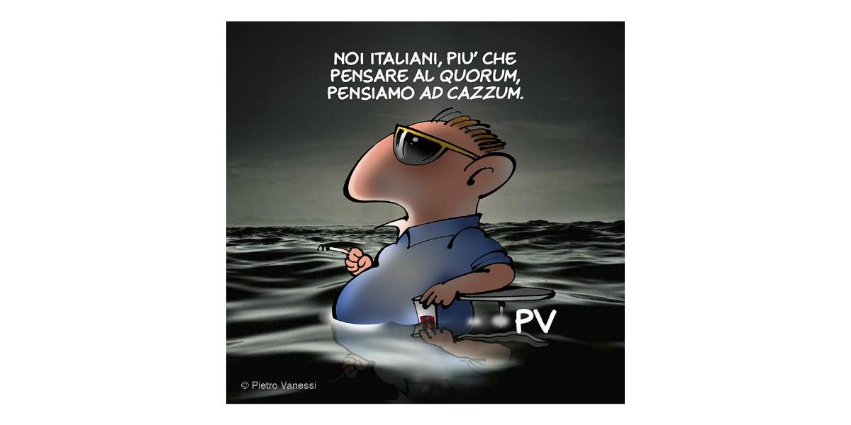 Noi Italiani popolo di indifferenti, complici e senza quorum