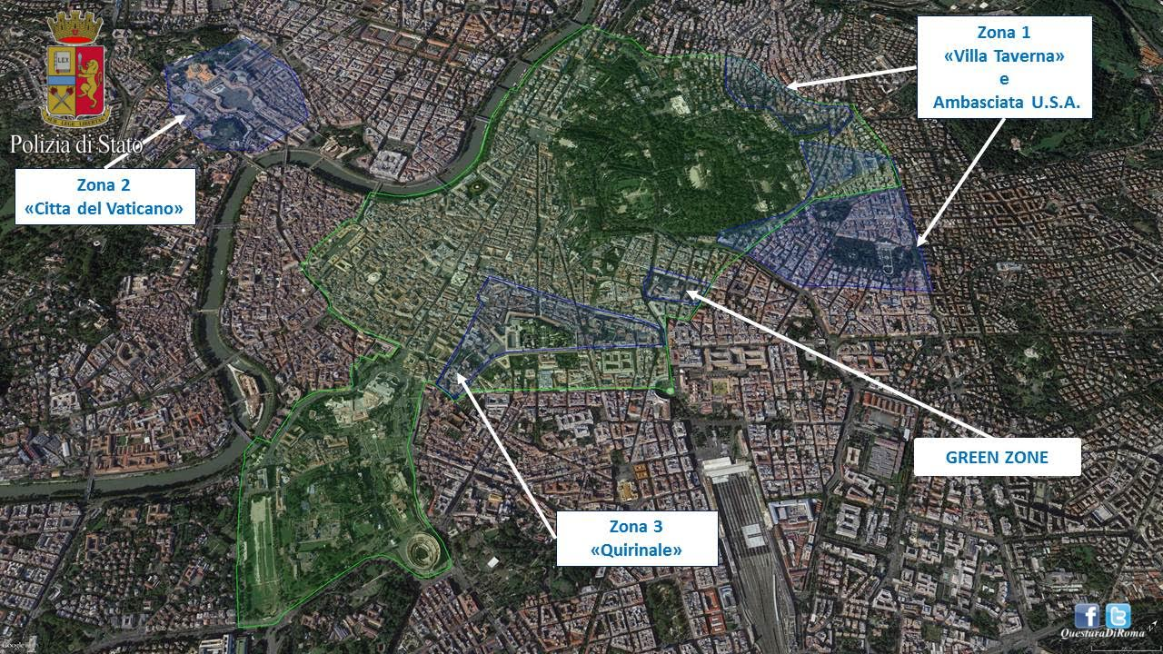 Trump a Roma, massima allerta e zone di sicurezza in Centro