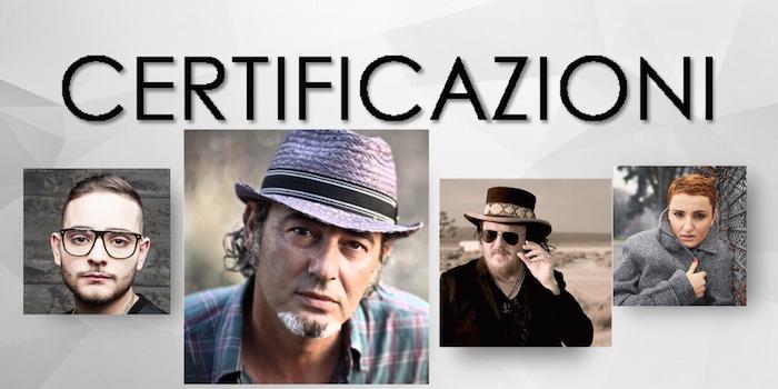 CERTIFICAZIONI: LUCA CARBONI e ZUCCHERO disco d'oro per l'album, ARISA e ROCCO HUNT tra i singoli
