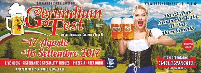 Gerundium Fest - Casirate (BG): dal 5 al 16 settembre grandi concerti con Guitar Mania, Jovanotte, Banda Liga, Maurizio Solieri (chitarrista di Vasco Rossi)