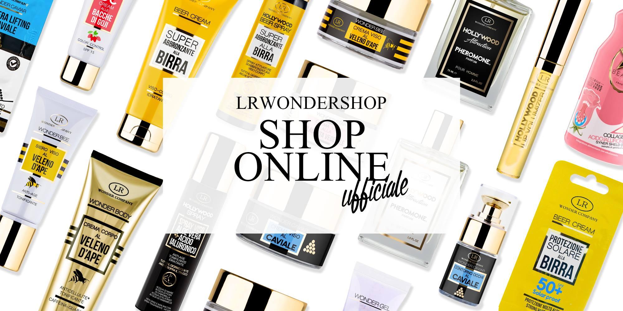 LR Wonder Company ora anche lo shop online