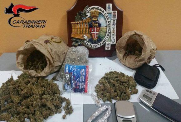 Spaccio di droga. CC Castelvetrano arrestano due giovani