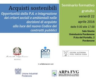 Acquisti sostenibili e Green Procurement – seminario gratuito