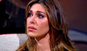 Belen Rodriguez scoppia in lacrime per Stefano De Martino