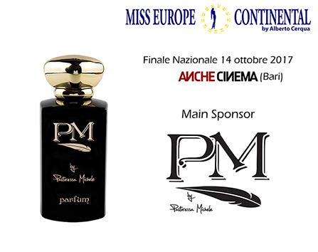 PM Parfum Main Sponsor per Miss Europe Continental Italia